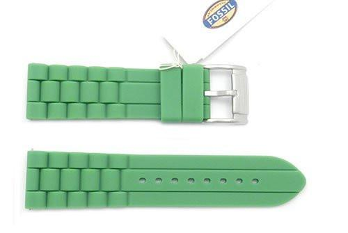 Fossil Green Silicone 24mm Watch Strap