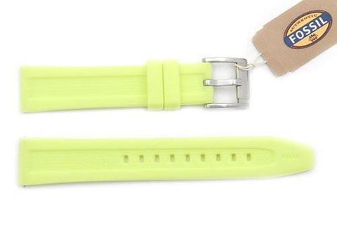 Fossil Yellow Silicone 18mm Watch Strap
