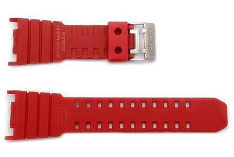 Genuine Casio G-Shock Red Resin 30mm Watch Band- 10280341