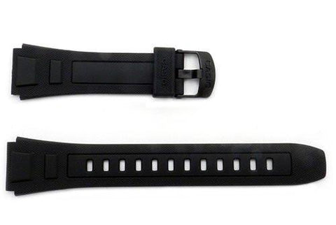 Genuine Casio Black Resin 24.5/20mm Watch Band- 10272777