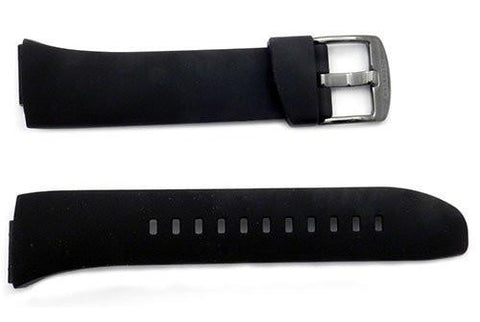 Seiko Black Rubber 17mm Watch Band