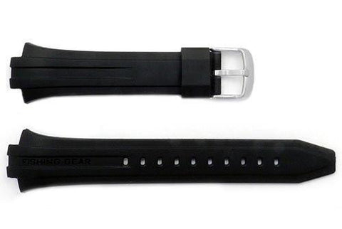Genuine Casio Black Resin 24/13mm Watch Strap- 10224048