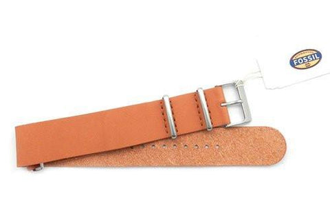 Fossil Orange Leather 22mm Watch Band