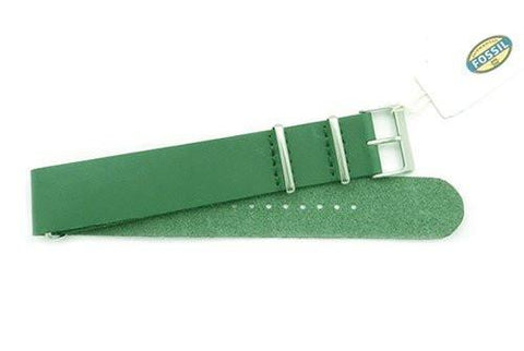 Fossil Green Leather 22mm Watch Band