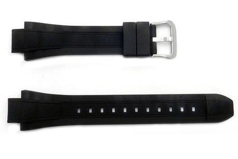 Genuine Casio Black Resin 24/15mm Watch Strap- 10264132