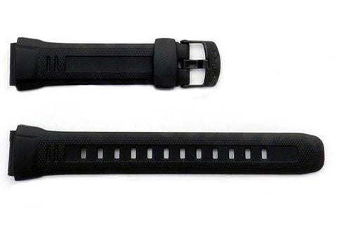 Genuine Casio Black Resin 23.5/18mm Watch Strap- 10243173