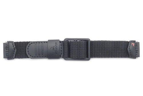 Genuine Casio Black Nylon and Leather 19/16mm Watch Band- 10093256