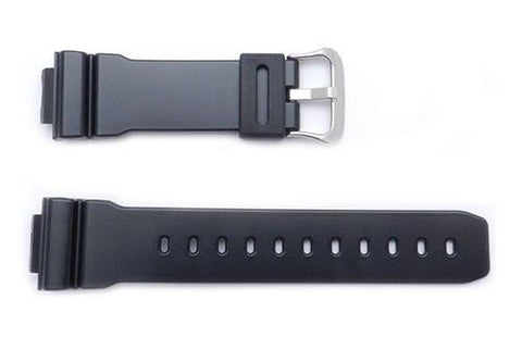 Genuine Casio Black Resin G-Shock 16mm Watch Band