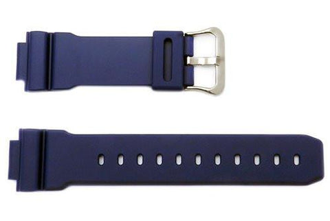 Genuine Casio Blue 16mm Resin G-Shock Watch Band