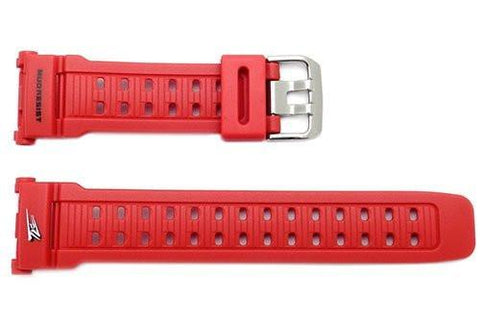 Genuine Casio Red Resin Dual Illuminator 27mm Watch Band- 10270935