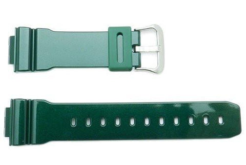Genuine Casio Green Resin G-Shock Watch Band- 10332043