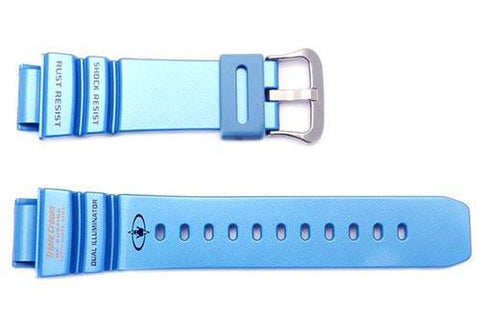 Genuine Casio Light Blue Resin 21mm G-Shock Watch Band- 10270953
