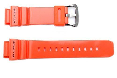 Genuine Casio Orange Resin Dual Illuminator 26.5/21mm Watch Band- 10311635