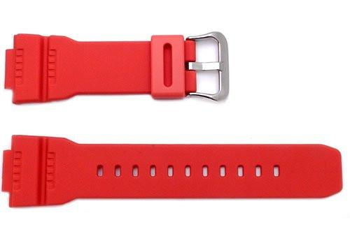 Genuine Casio Red Resin 16mm Watch Band- 10332099