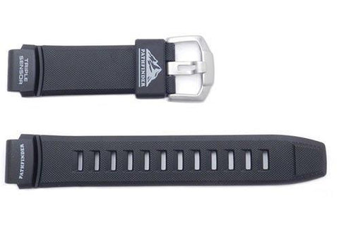 Genuine Casio Pathfinder Black Resin 22/18mm Watch Strap- 10332894
