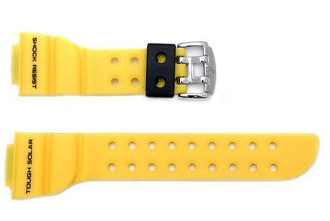 Casio G-Shock Yellow 18mm Watch Band - 10372976
