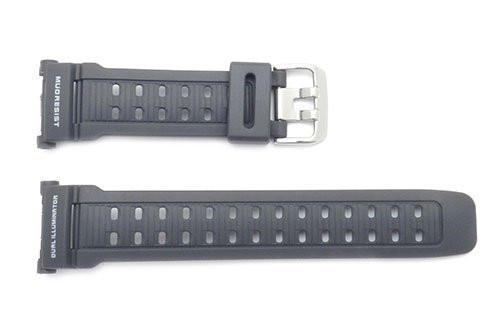 Genuine Casio Gray Resin Dual Illuminator 27mm Watch Band- 10318153
