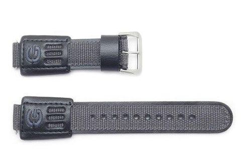 Genuine Casio G-Shock Gray Nylon and Leather 27/16mm Watch Strap- 71604122
