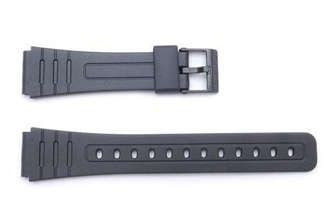Genuine Casio Black Resin 22/18mm Watch Band- 71604002