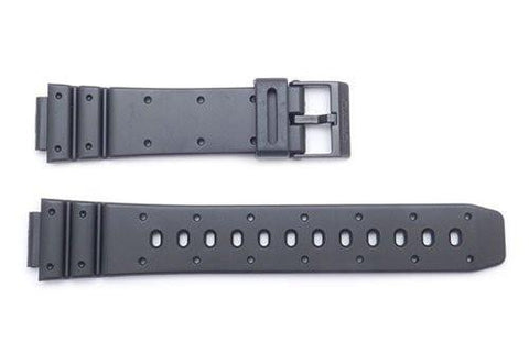 Genuine Casio Black Resin 21.5/14mm Watch Strap- 70607875