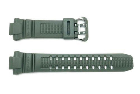 Genuine Casio Green Resin Military G-Shock 26/14mm Watch Band