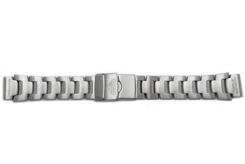 Genuine Casio Pathfinder Silver Tone Stainless Steel 22/18mm Watch Band- 10332896