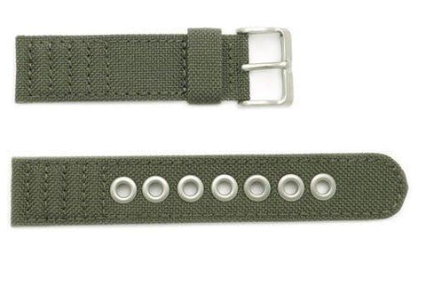 Genuine Citizen Eco-Drive Olive Canvas 20mm Watch Strap