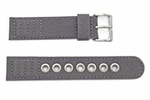 Genuine Citizen Eco-Drive Gray Canvas 20mm Watch Strap