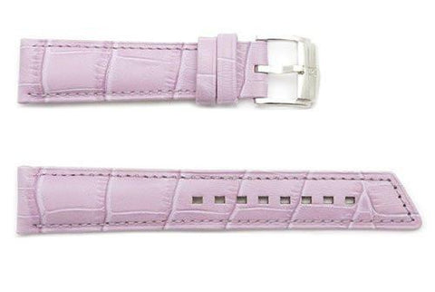 Hirsch Princess - Lilac Alligator Grain Textured Leather Slant Cut Short Watch Strap