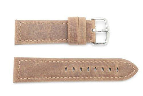 Hirsch Terra - Tuscan Calfskin Textured Leather Watch Strap