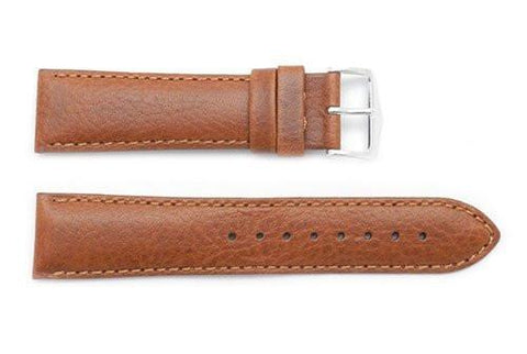 Hirsch Forest - Natural Calfskin Textured Leather Watch Strap