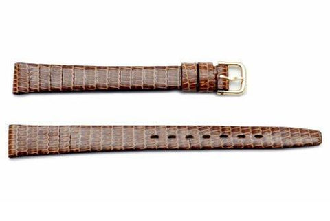 Hadley Roma Beige Genuine Java Lizard Flat Ladies Watch Strap