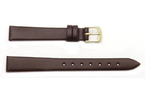 Hadley Roma Smooth Genuine Brown Leather Watch Band