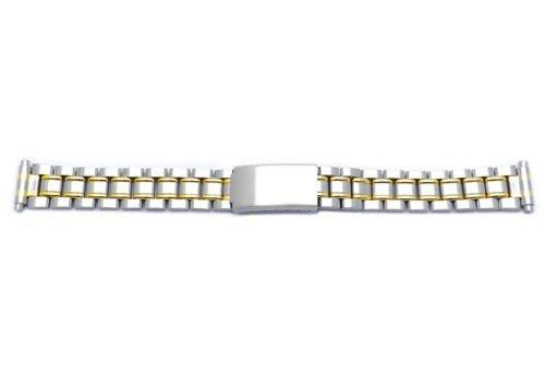Hadley Roma Ladies Ion Plated Dual Tone Watch Bracelet Size 12-16mm