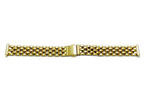 Hadley Roma Ladies Gold Tone Polished Watch Bracelet Fits 12-16mm