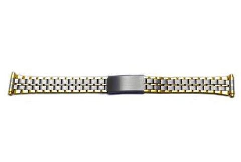 Hadley Roma Ladies Dual Tone Watch Bracelet Size 12-15mm