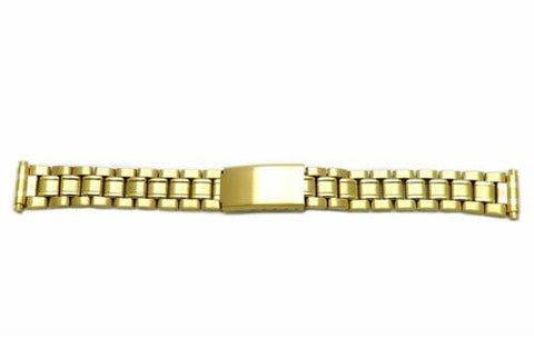 Hadley Roma Ladies Ion Plated Gold Tone Watch Bracelet Size 12-16mm