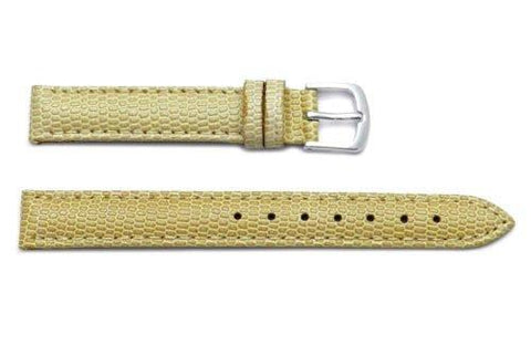 Hadley Roma Java Lizard Grain Beige Textured Leather Watch Strap