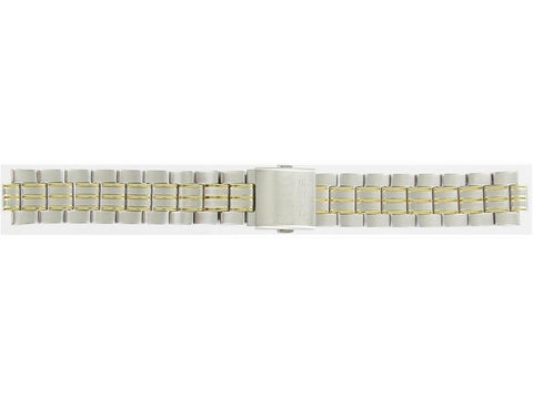 Genuine Seiko 20mm Dual Tone Stainless Steel Metal Watch Band