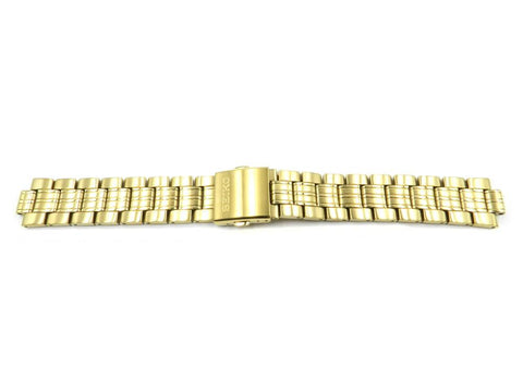 Genuine Seiko Mens Solar Gold Tone 20mm Watch Bracelet