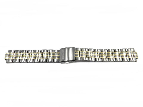 Genuine Seiko 20mm Dual Tone Gun Metal Watch Bracelet