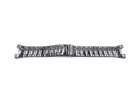 Genuine Seiko Black Ion Plated Stainless Steel Push Button Fold-Over Clasp 19mm Watch Bracelet