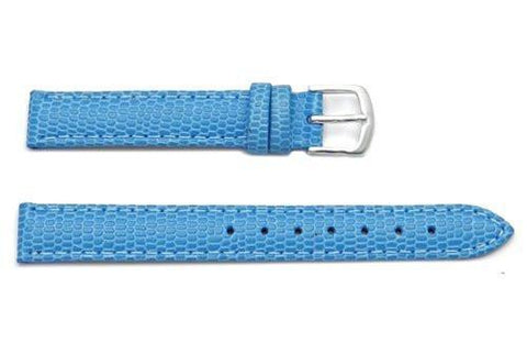 Hadley Roma Java Lizard Grain Light Blue Textured Leather Watch Strap