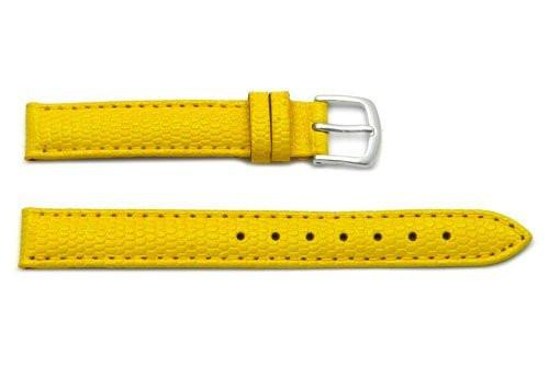Hadley Roma Java Lizard Grain Yellow Textured Leather Watch Strap