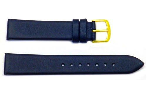 Hadley Roma Black Mens Genuine Leather Watch Band