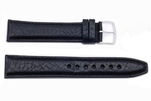 Hadley Roma Long Black Mens Genuine Leather Watch Band