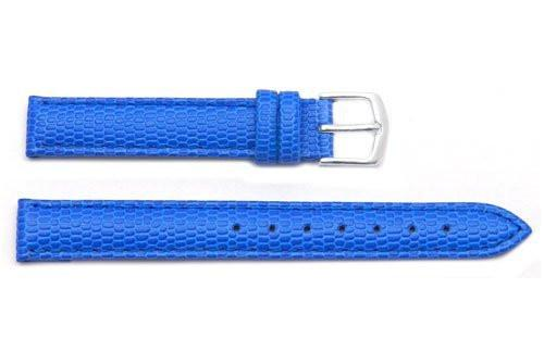 Hadley Roma Java Lizard Grain Blue Textured Leather Watch Strap