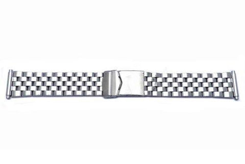 Hadley Roma Stainless Steel Sport Link Design Watch Band