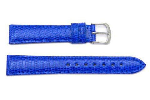 Hadley Roma Blue Genuine Java Lizard Light Padding Thin Watch Band