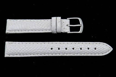 Hadley Roma White Genuine Java Lizard Light Padding Thin Watch Band